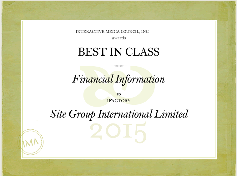IMA Best in Class Award Site Group