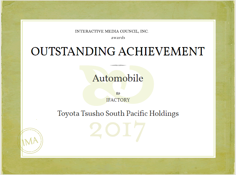 iFactory Wins Outstanding Achievement for Toyota Tsusho South Pacific Holdings